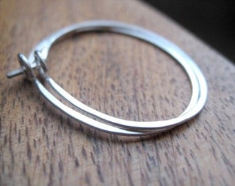 oval hoops. sterling silver hoop earrings. eco friendly jewelry