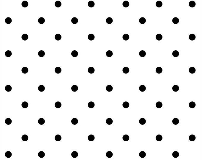 Domino Dot Polka Dot Fabric by Ellen Medlock - 1 Yard Cut White Black Quilting Sewing Cotton Fabric (# 916W  )