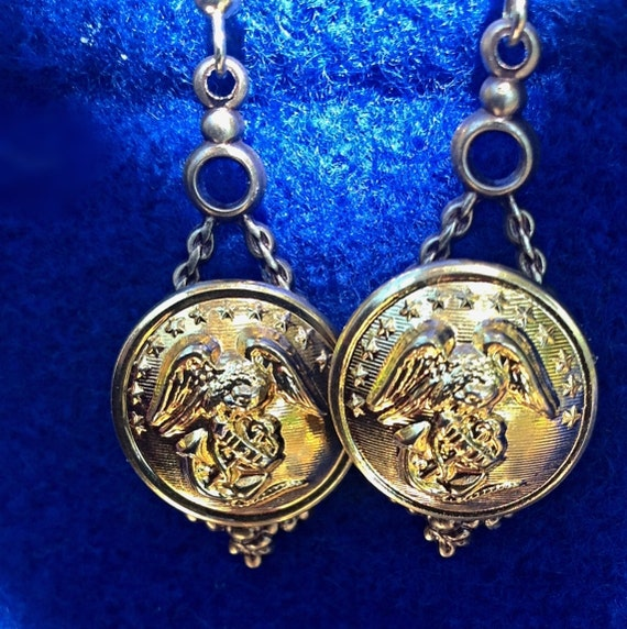 us marine corps sweetheart jewelry earrings made by bndjewelry. Black Bedroom Furniture Sets. Home Design Ideas