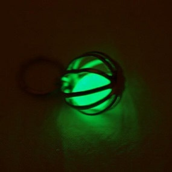 Glow In The Dark Green Necklace 11mm