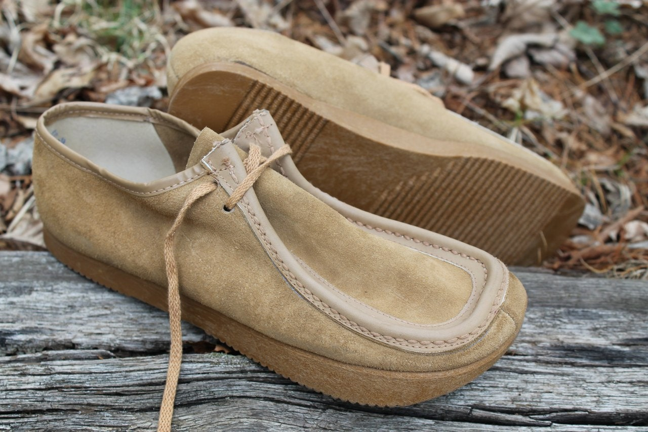 vintage 1970s tan leather suede earth shoes size 9 women NOS