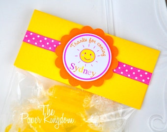 You are my Sunshine Favor Bags, Party Favor Bags, You are My Sunshine Birthday Party