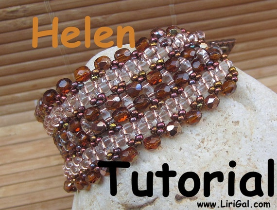 HelenTwin  Superduo Beadwork Bracelet PDF Tutorial