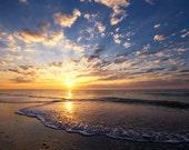 Myrtle Beach Sunrise - 8x10 Color Nature Photography Print - Beach House Decor - South Carolina Landscape Art