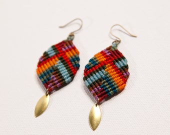 Dancing Leaf Buddha Earrings (multicolor)