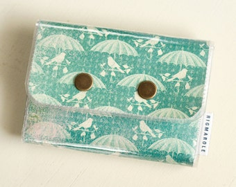Birds and Umbrellas - Double Snap Wallet