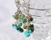 fatdog Earrings - E22   Turquoise Dangles