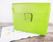 Vintage Olive Green File Box - Letter Size - Plastic File Folder Tote - Vintag File Carrier - Made in U.S. by Sterling