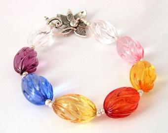 Multicolored Lucite Bracelet