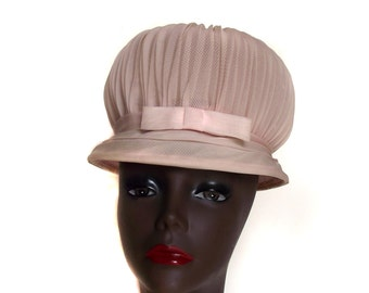 60s Puff Hat Vintage Statement Hat Marshmallow Look