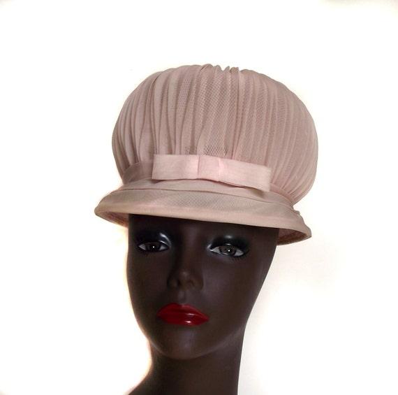60s Puff Hat Vintage Statement Hat Marshmallow Look
