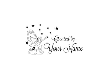 Personalized unmounted cling custom made rubber stamp C68