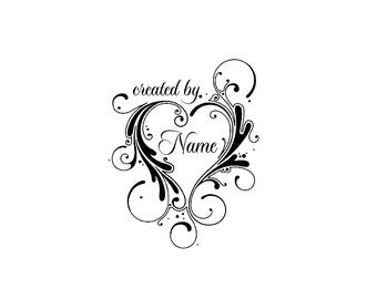 Personalized unmounted cling custom made rubber stamp C19