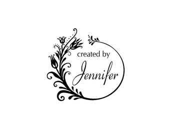 Personalized unmounted cling custom made rubber stamp C26