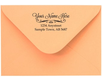 Personalized Custom Made Handle Mounted Return Address Rubber Stamps R95
