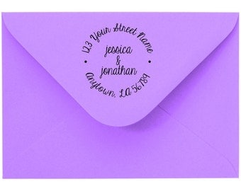 Personalized Custom Made Return Address and Name Rubber Stamps R102