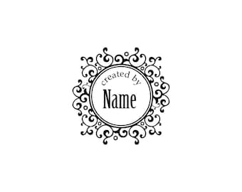 Handle Mounted or Cling Personalized Name custom made rubber stamps C14