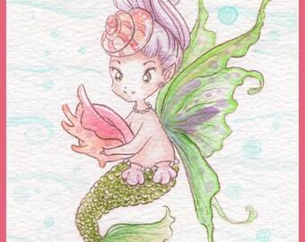 Mermaid Fairy - print