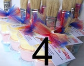 Sidewalk Paint Mini-Stack Party Favors -Set of 4 - Primary Colors (red, blue, yellow)
