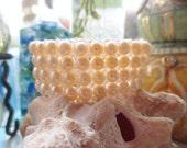 Vintage Bracelet Pearls Genuine Stretch Expansion