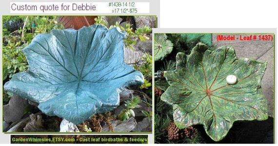 RESERVED for Debbie - CUSTOM... Asian Mayapple leaf birdbath/feeder on a pole (modeled after Leaf No. 1437)
