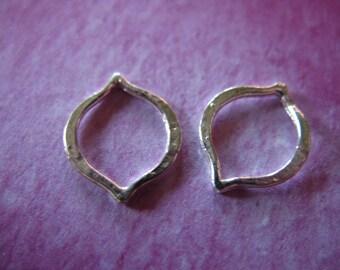 Shop Sale.. 2 5 10 pcs, 925 Sterling Silver Links Connectors, MARQUIS Petal, Fancy, 12x10, Small, wholesale arabesque moroccan art a1 solo