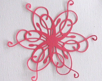 Fancy ornate florish die cut  set of 2 in any colour