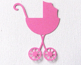 baby stroller sillhouettes die cut embellishments set of 6