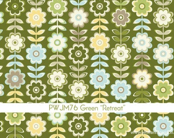 In My Room Retreat in Green by Jenean Morrison for Free Spirit - 1 Yard