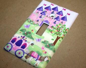 Princess Fairytale Castle Girls Bedroom Single Light Switch Cover LS0051