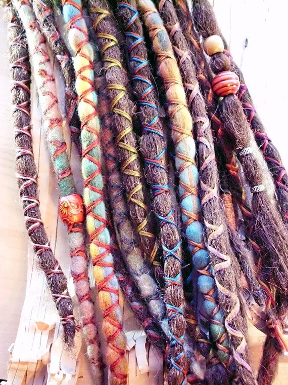 Shop purple finch 10 custom standard clip in or braid in synthetic dreadlock extensions boho dreads pmusecretfo Choice Image