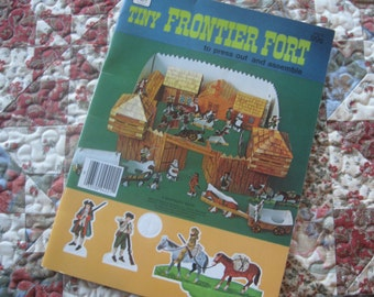 Tiny Frontier Fort a Vintage 1975 Whitman Paper Doll Book
