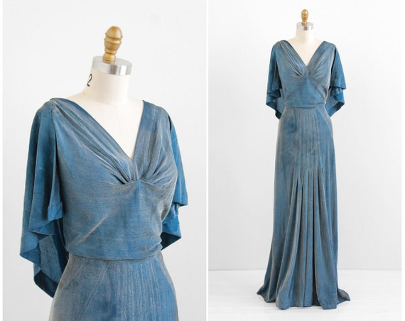 R E S E R V E D Vintage 1930s Dress / 30s Evening Gown