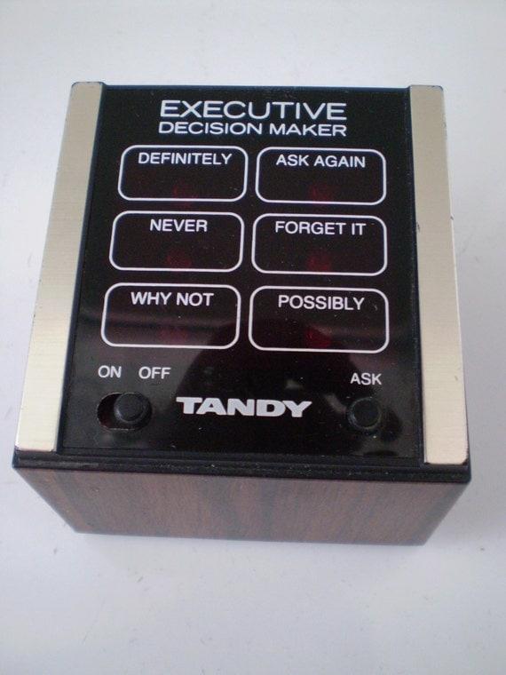 Vintage Radio Shack TANDY Executive Decision Maker 1980's Electronic Novelty Game