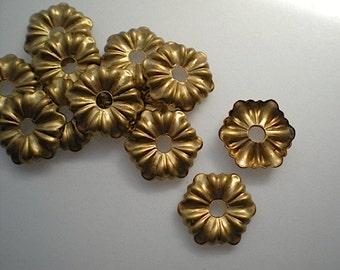 12 brass mirror rosettes, No. 3 - small