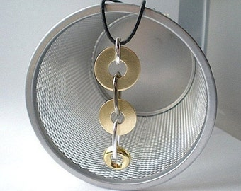 Round and round and round we go - industrial hardware necklace