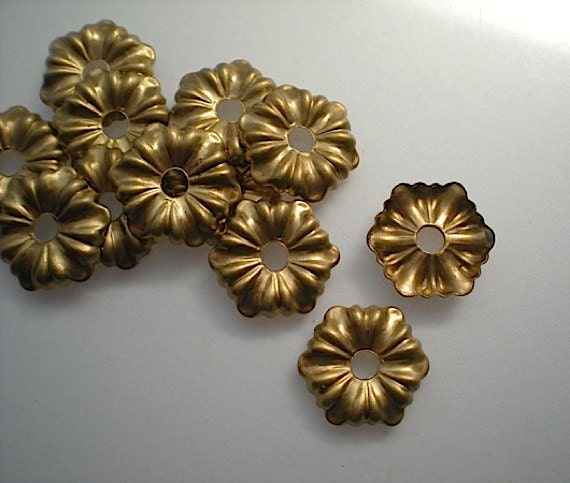 12 brass mirror rosettes, No. 3 - small steampunk buy now online