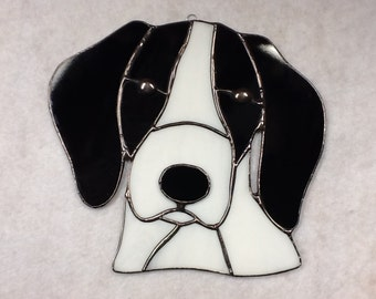 English Pointer Stained Glass Sun Catcher