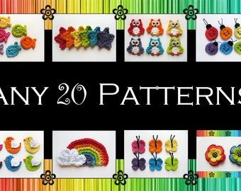 Your Choice of 20 Crochet Patterns (PDF)