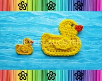 Duck Applique - CROCHET PATTERN (PDF)