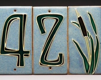 Handmade Single Digit House Number Tile