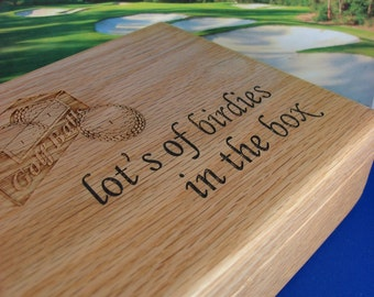 50% OFF,  Golf,Golf Balls,Ball Box,Four Sleeve,Wood,Personalized Engraving