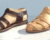 Handmade Roman Grecian leather sandals