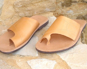Greek handmade Roman leather sandals for men