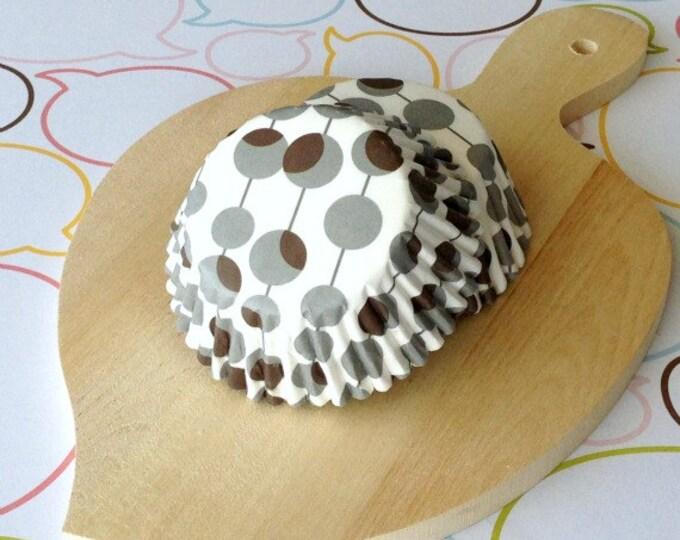 Gray/Brown Dots Standard Cupcake Liners