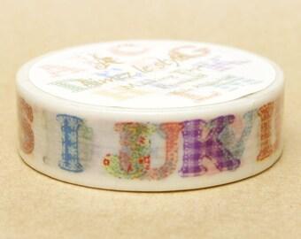 Aimez Washi Masking Tape - Quilted Alphabet