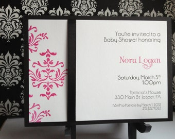 Brocade shimmer invitation