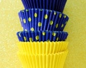 Assorted Yellow and Navy Cupcake Liner Pack (45)