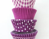 Assorted Bright Purple Cupcake Liners (40)