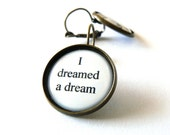 Les Miserables earrings. Quote jewelry. Fantine, I Dreamed a Dream lyrics. French earwires. Musical, movie inspired.